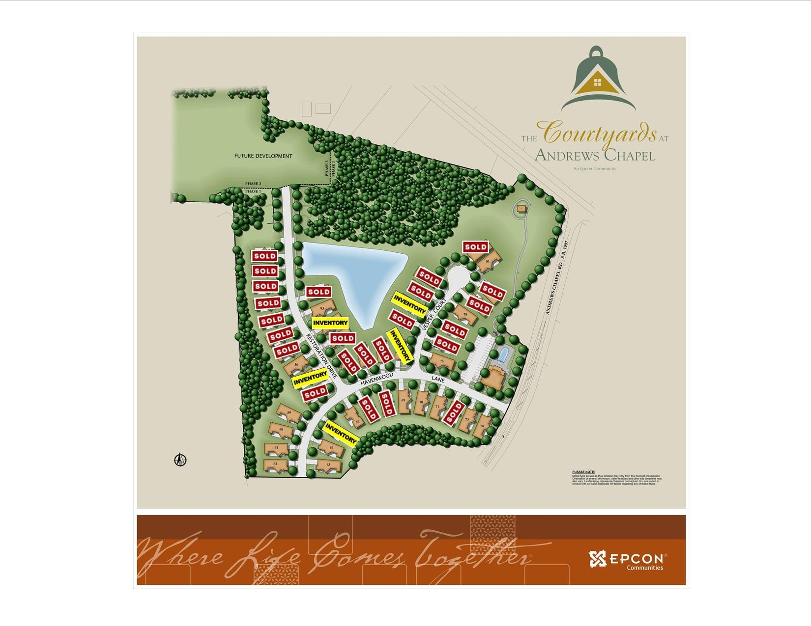 Andrews Chapel Phase I Map
