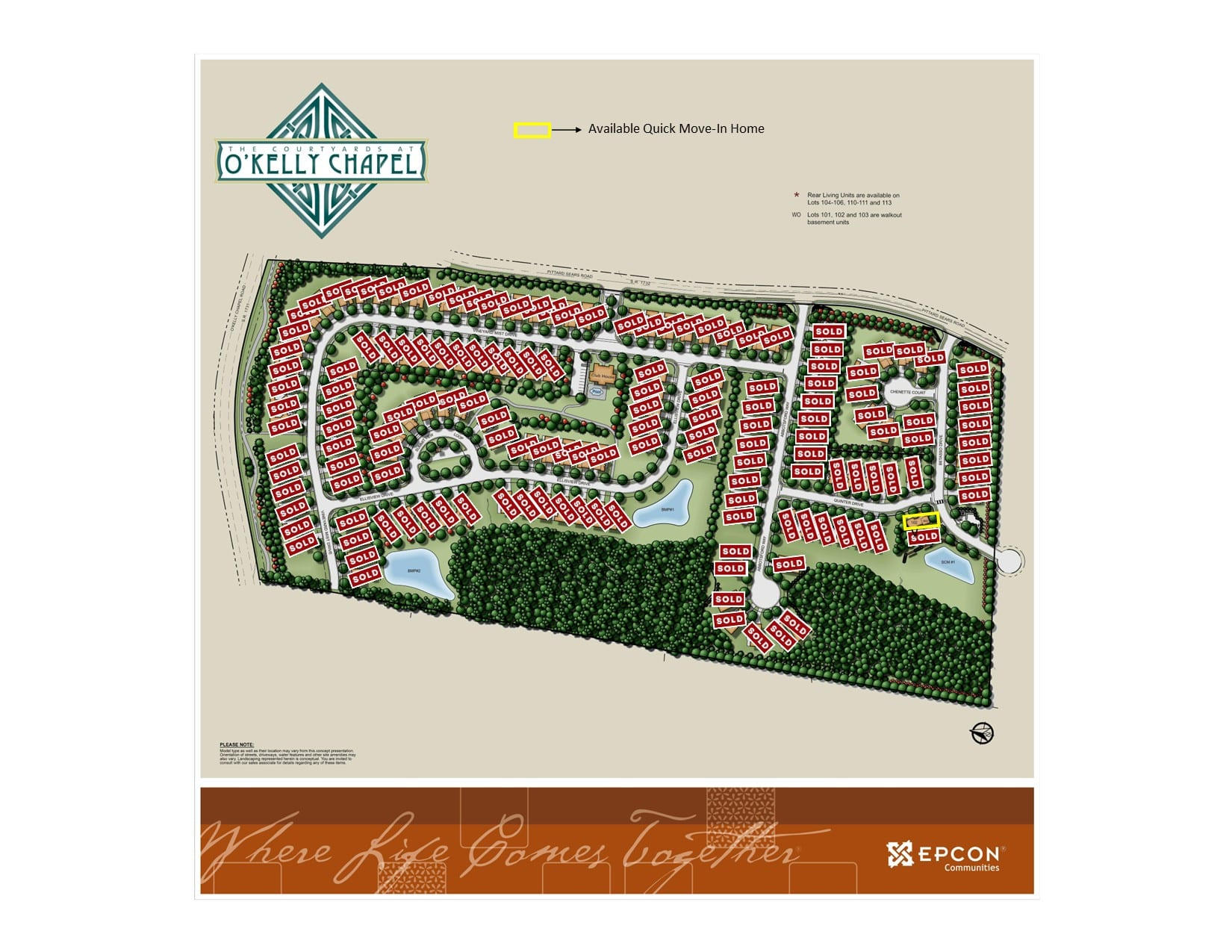 Courtyards at OKelly Chapel Map