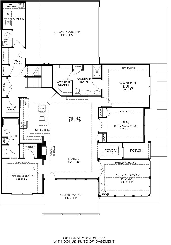 Epcon canterbury floor plan epcon communities floor plans Canterbury floor plan