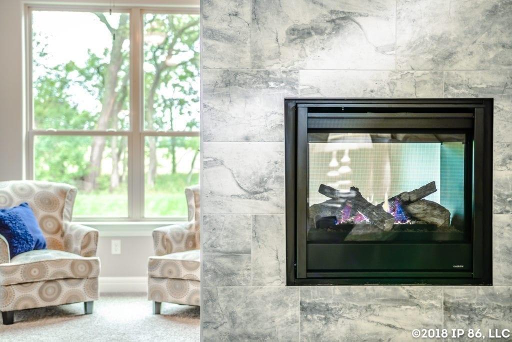 patio home fireplace
