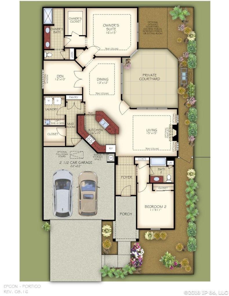 Portico Floor Plan_Charlotte_Pg1