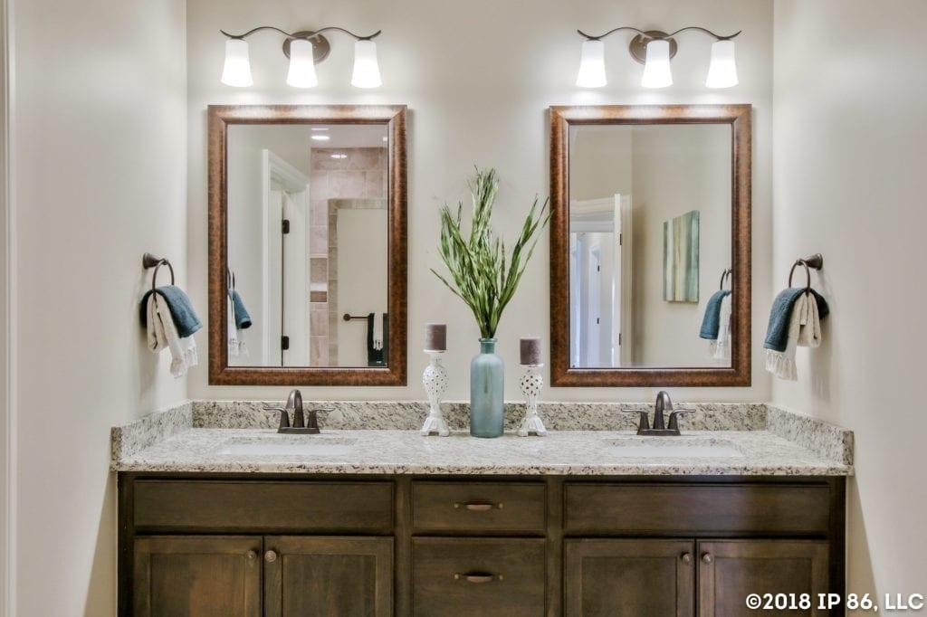Patio home master bathroom