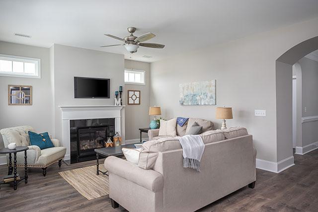evergreen model living room