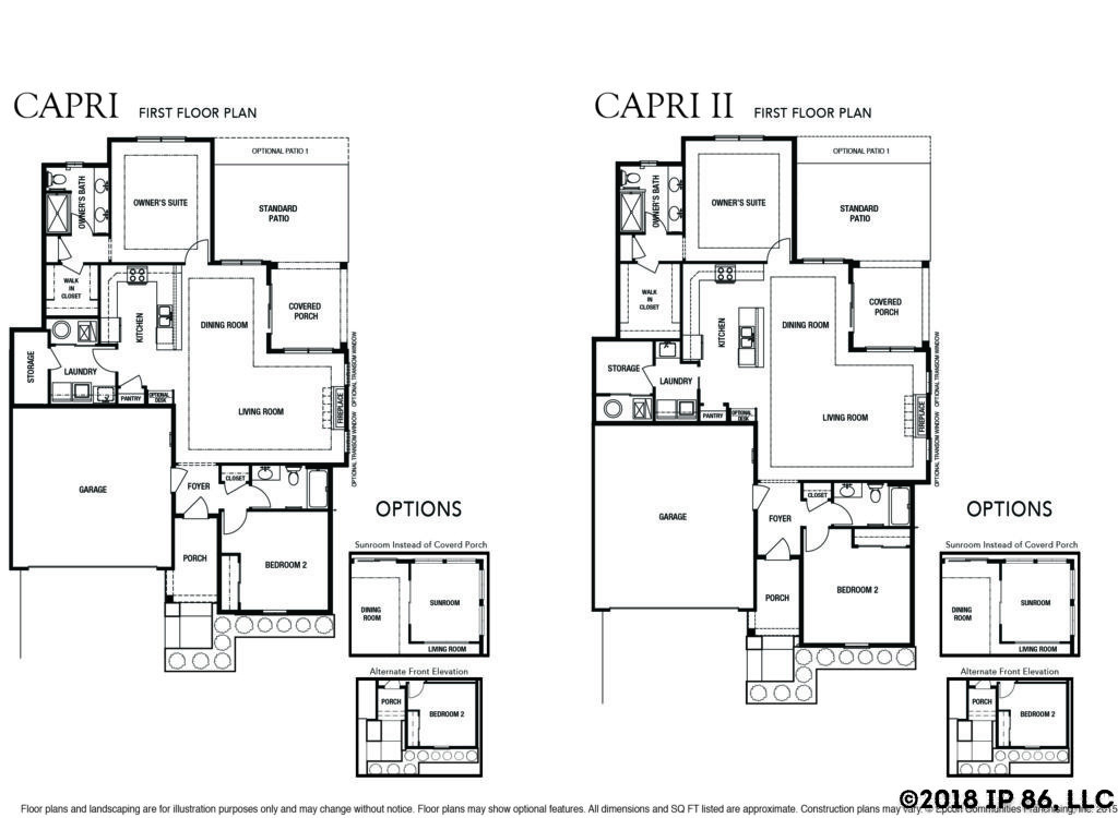 Capri models the preserve epcon communities for Capri floor plan