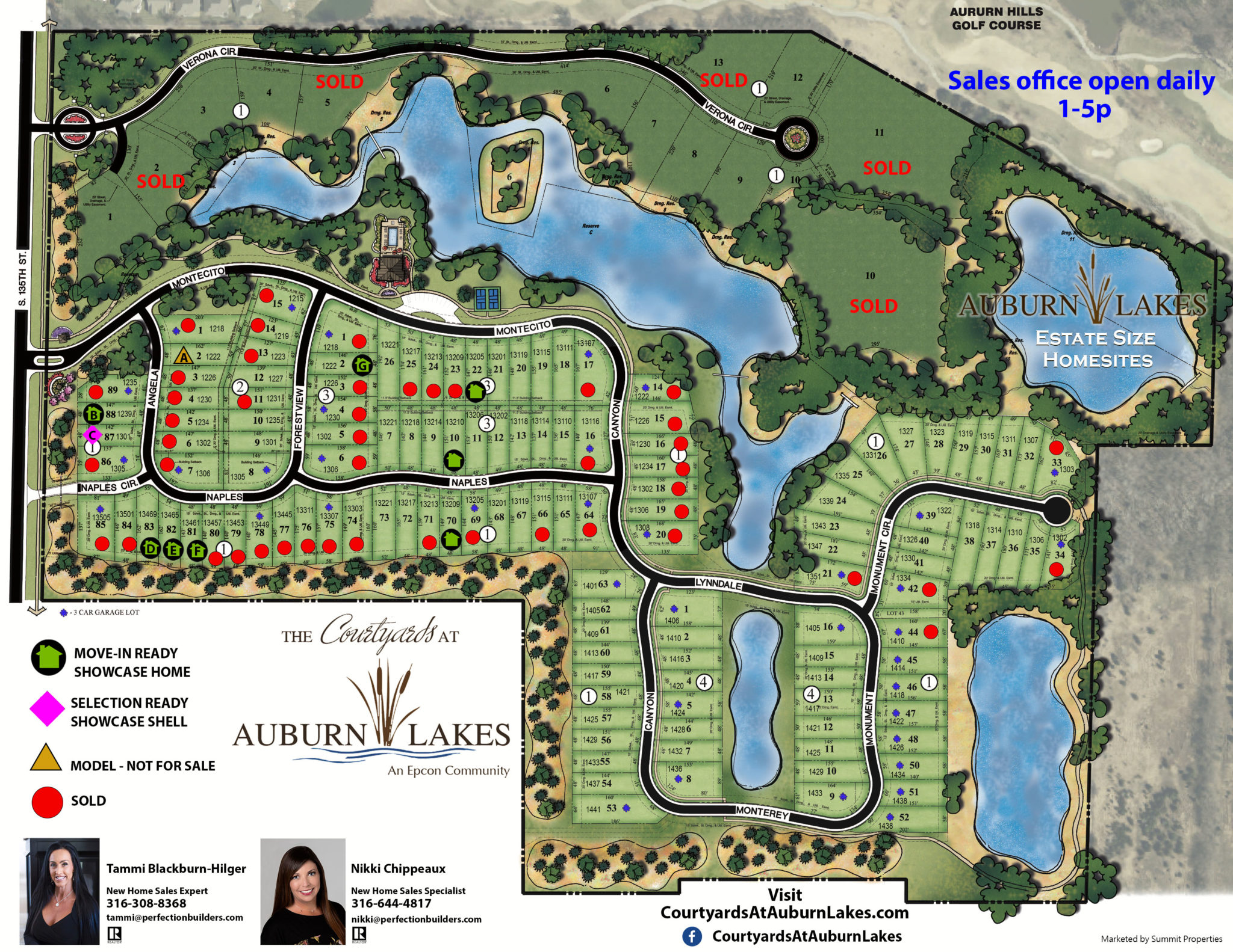 Courtyards at Auburn Lakes Sales Flyer