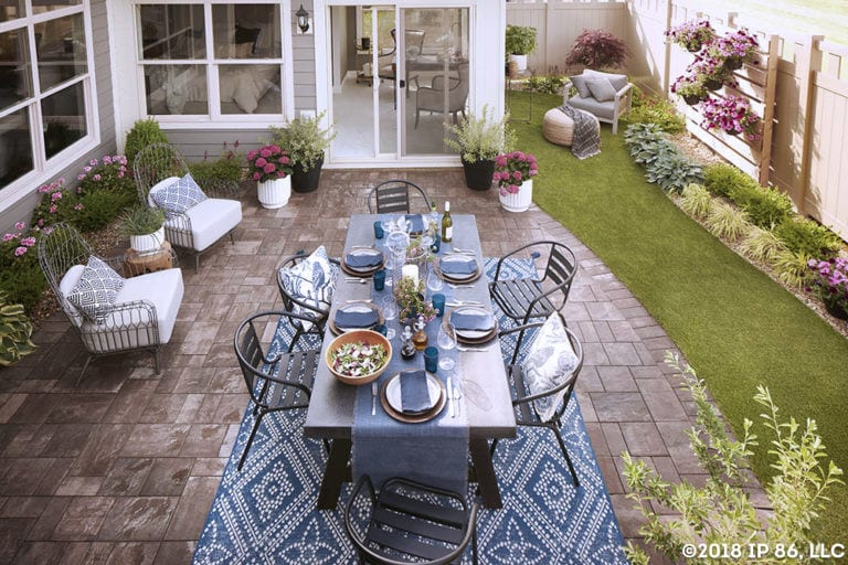 Patio Furniture in Courtyard
