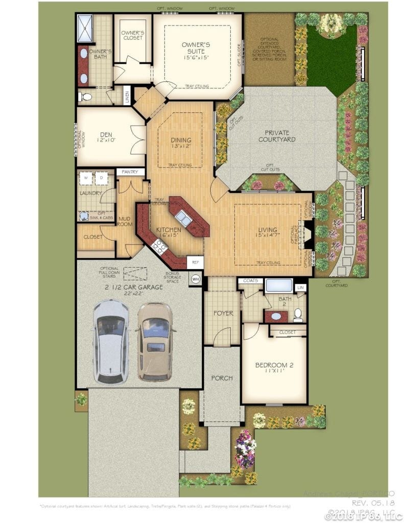 Portico Home Plan-page-001-andrews chapel-kildaire farms
