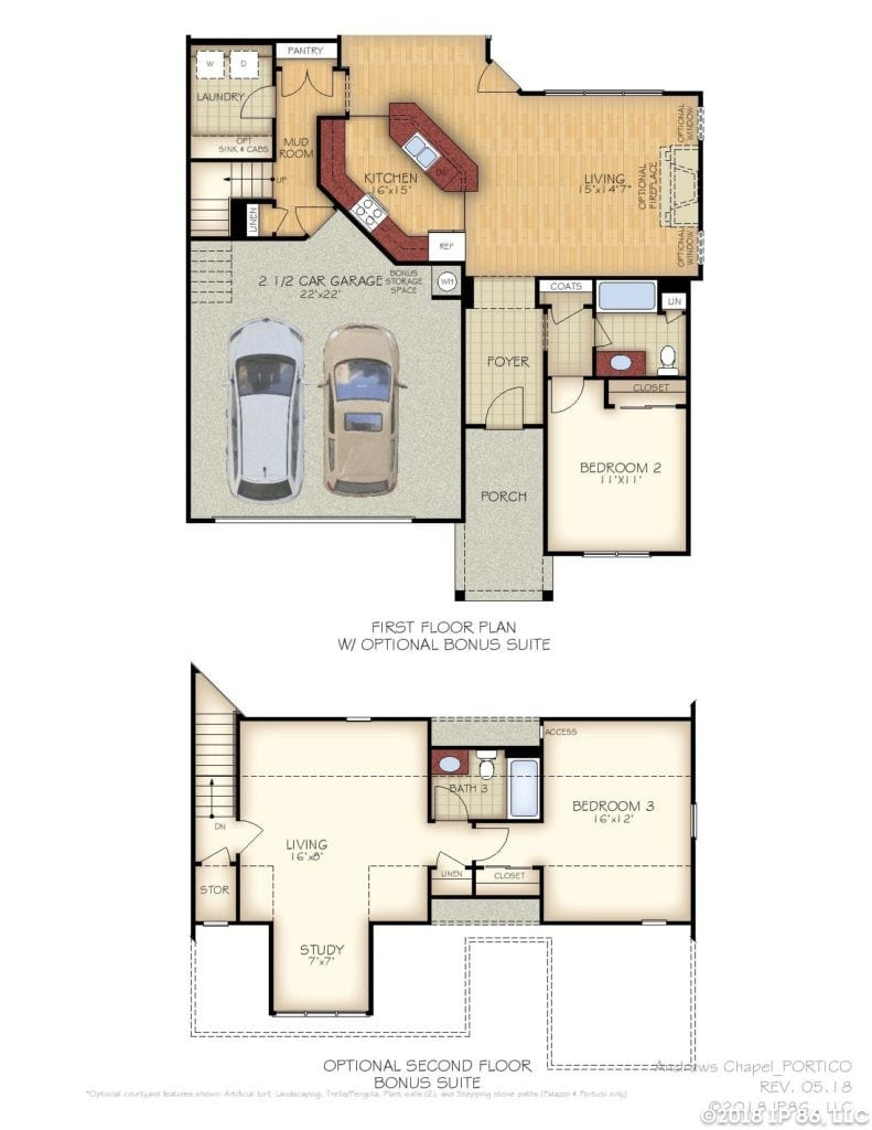 Portico Home Plan-page-002-andrews chapel-kildaire farms