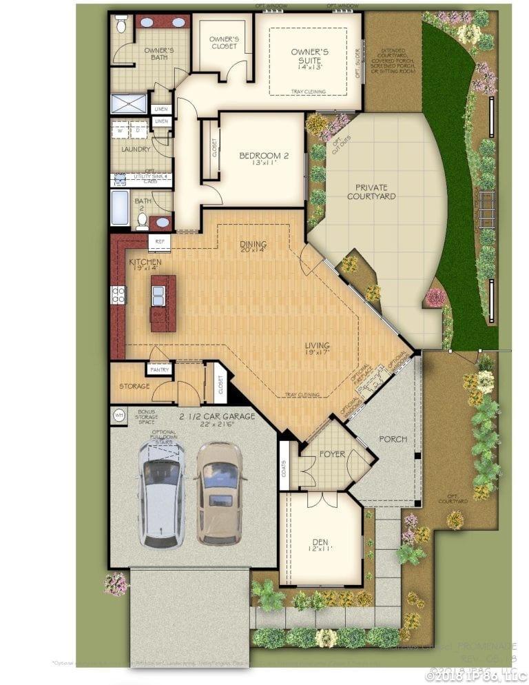 Promenade Home Plan-page-001-andrews chapel-kildaire farms