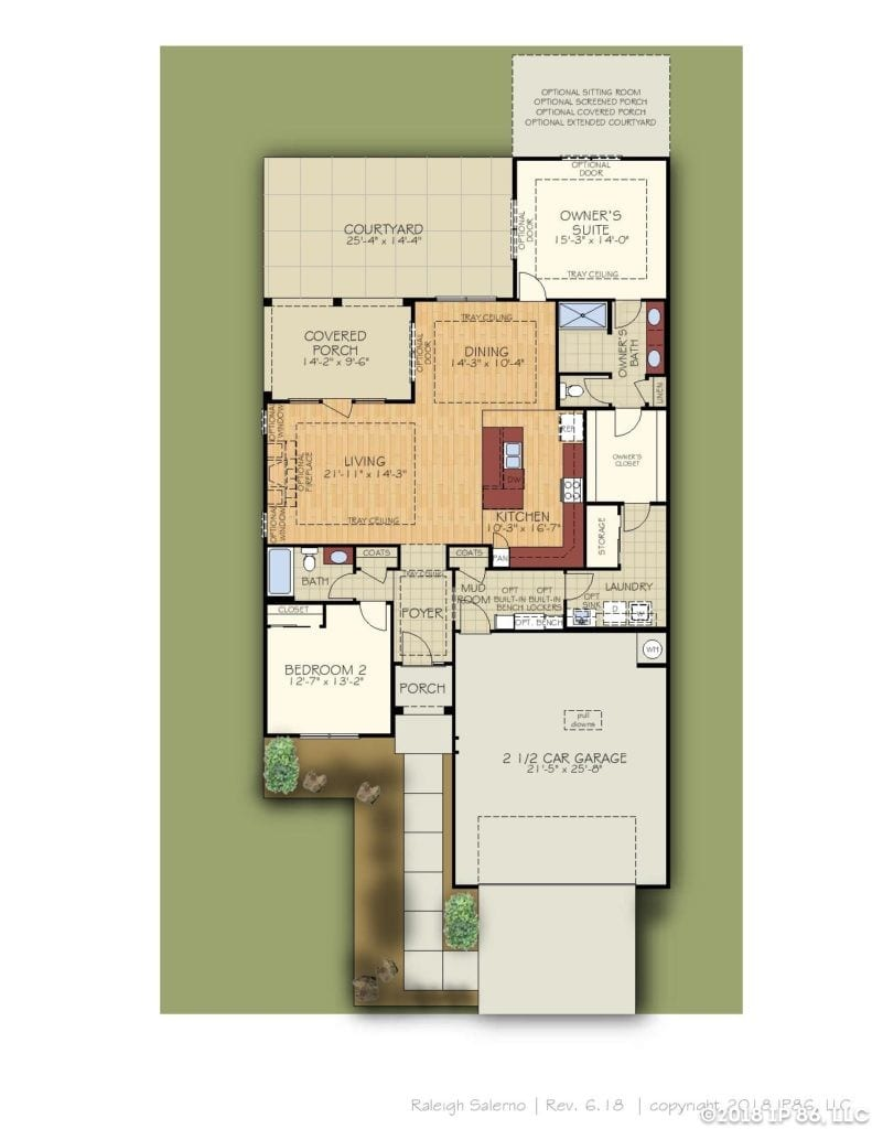 Salerno Home Plan-page-001-andrews chapel-kildaire farms