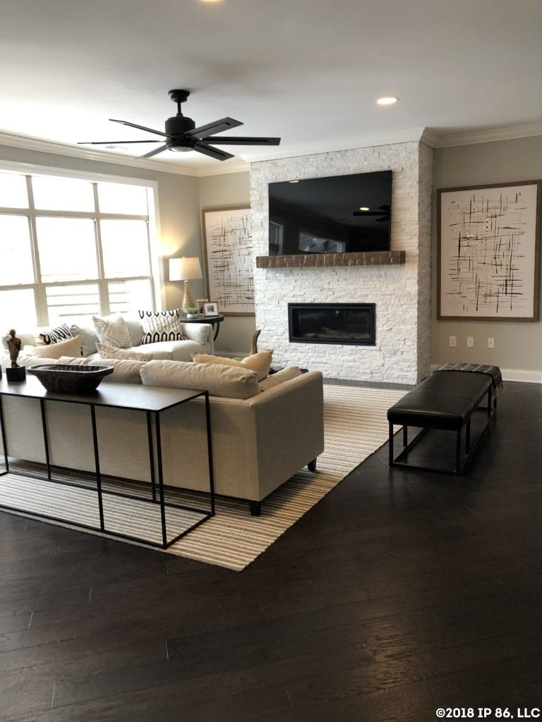 Promenade III Model-Muirfield-Living Room