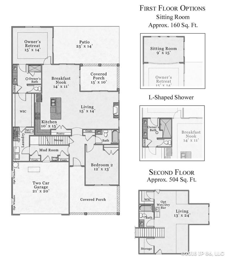 Salerno Bungalow Floorplan